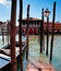 Stock Image : Parking place for Gondolas in Venice