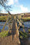 Stock Image : Parley Gorge Wooden Bridge, Derbyshire Peak District
