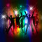 Stock Image : Party people background