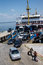 Stock Image : Passengers leave  the Dardanelles  ferry
