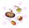 food icons illustration hand drawn