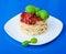 Stock Image : Pasta with tomato sauce