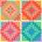 Stock Image : PatchworkMulticolorPattern