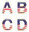 Stock Image : Patriotic ABCD