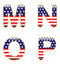 Stock Image : Patriotic MNOP
