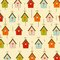 Stock Image : Pattern with birdcages