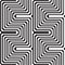 Stock Image : Pattern in black and white - optical illusion