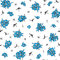 Stock Image : Pattern with blue flowers
