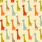 Stock Image : Pattern with giraffes