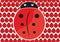 Stock Image : Pattern ladybug