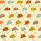 Stock Image : Pattern with umbrellas