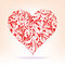 Stock Image : Patterns of red heart