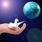 Stock Image : Peace - Earth Hope