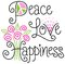 Stock Image : Peace Love and Happiness/eps