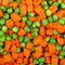Stock Image : Peas and carrots background
