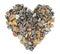 Stock Image : Pebbles stones heart
