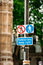 Stock Image : Pedestrian keep right sign