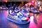 Stock Image : People at bumper cars at Sonar Festival