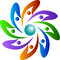 Stock Image : People rotation logo