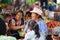 Stock Image : People shopping at Fresh Food market in Ecuador