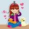 Stock Image : Pet Lover Girl