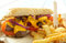 Stock Image : Philly cheese sandwich