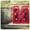 Stock Image : Phone boxes old photo