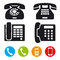 Stock Image : Phone vector  icons