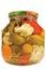 Stock Image :  Pickled conservó el tarro de cristal aislado surtido hecho en casa de las verduras