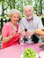 Stock Image : Picnic for Senior Couple