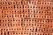 Stock Image :  Pila anaranjada del ladrillo de la construcción