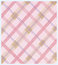 Stock Image : Pink Plaid Diagonal Textile Pattern