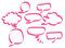 Stock Image : Pink speech bubbles