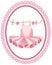 Stock Image : Pink tutu label