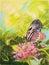 Stock Image :  Pintura de la mariposa de la llave del piano