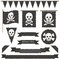 Stock Image : Pirate flags