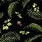 Stock Image :  Pittura dell'acquerello della foglia e dei fiori