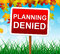 Stock Image : Planning Denied Means Missions Aim And Objective