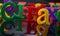 Stock Image : Plastic alphabet letters
