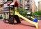 Stock Image : Playground  in city street, nobody