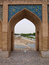 Stock Image : Pointed arch on 33 pol Allah Verdi Khan bridge in Isfahan, Iran