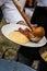 Stock Image :  Polenta e goulash