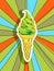 Stock Image : Pop art ice cream