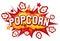 Stock Image : Popcorn design