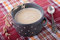 Stock Image : Porridge of oatmeal inceramic pot
