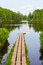 Stock Image : Portage Dock in the Wilderness