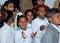 Stock Image : Portait собирать темных египетских детей усмехаясь на школе