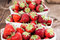 Stock Image : Portion of fresh Strawberries
