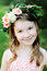 Stock Image : Portrait of adorable kid girl with floral wreath