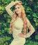 Stock Image : Portrait of a beautiful blond woman